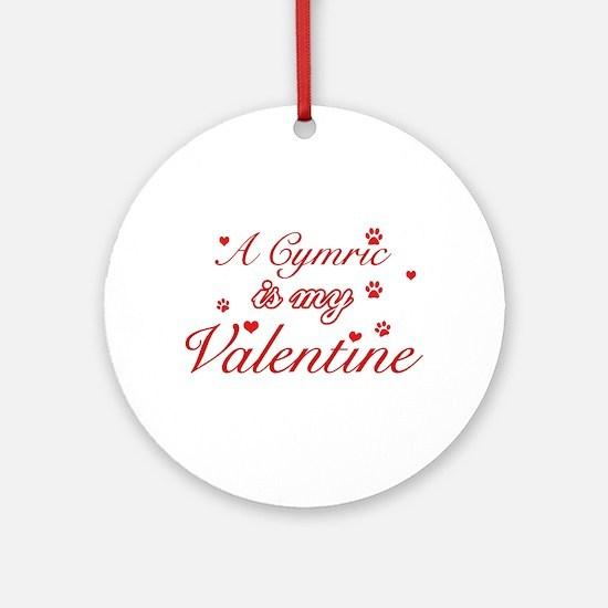 A Cymric is my valentine Ornament (Round)