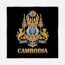 Cambodia Coat Of Arms Queen Duvet