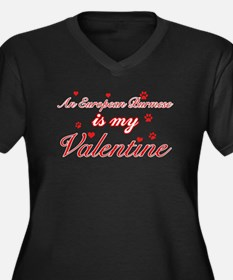 An European Burmes is my Valentine Women's Plus Si