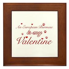 An European Burmes is my Valentine Framed Tile
