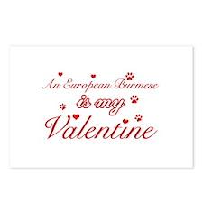 An European Burmes is my Valentine Postcards (Pack