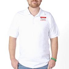 Pollyanna, Name Tag Sticker T-Shirt