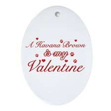 A Havana Brown is my valentine Ornament (Oval)
