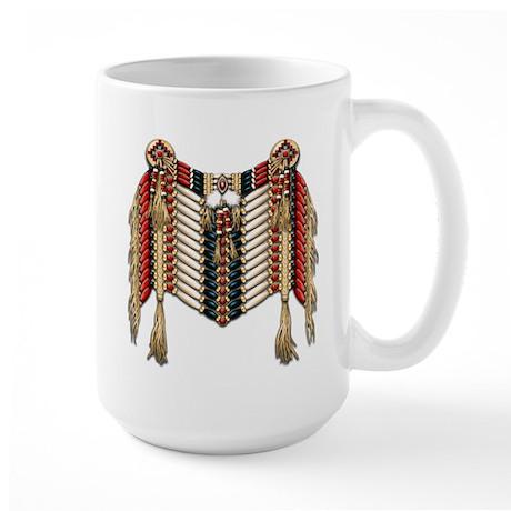 Native American Breastplate 10 Large Mug