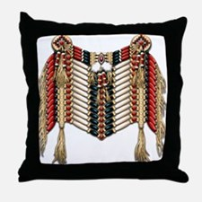Native American Breastplate 10 Throw Pillow