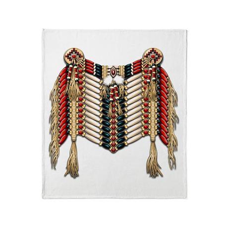 Native American Breastplate 10 Throw Blanket
