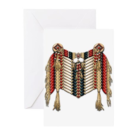 Native American Breastplate 10 Greeting Cards (Pk