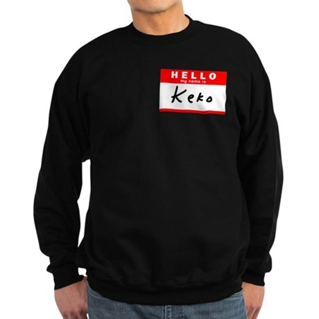 Keko, Name Tag Sticker Sweatshirt (dark)