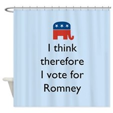 I Think Romney Shower Curtain