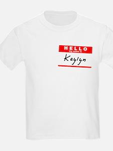 Kaylyn, Name Tag Sticker T-Shirt