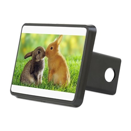 Love Bunnies Rectangular Hitch Cover