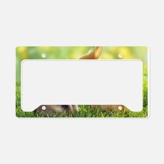 Love Bunnies License Plate Holder