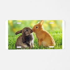 Love Bunnies Aluminum License Plate