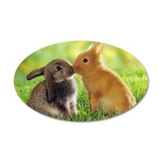 Love Bunnies 22x14 Oval Wall Peel
