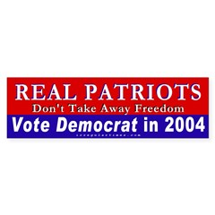Real Patriots Defend Freedom Bumper Sticker