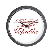 A Himalayan is my valentine Wall Clock