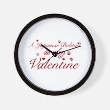 A Japanese Bobtail is my valentine Wall Clock