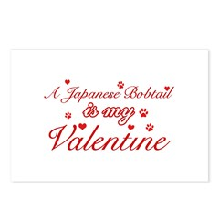 A Japanese Bobtail is my valentine Postcards (Pack