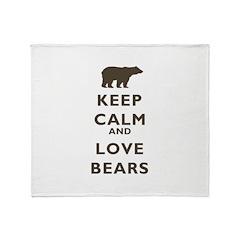 Keep Calm And Love Bears Throw Blanket