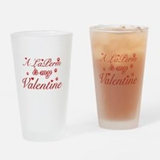 A Laperm is my valentine Drinking Glass