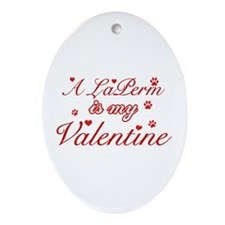A Laperm is my valentine Ornament (Oval)