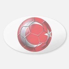 Turkish Football Sticker (Oval)