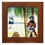 Caribbean Pirates Framed Tile