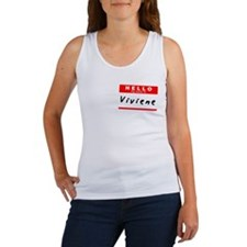 Viviene, Name Tag Sticker Women's Tank Top