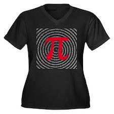 Pi Women's Plus Size V-Neck Dark T-Shirt