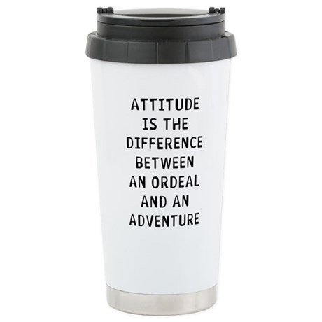 Attitude 16 oz Stainless Steel Travel Mug