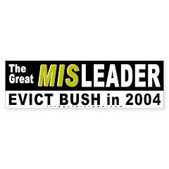 Bush the Great Misleader Bumper Bumper Sticker