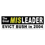 Bush the Great Misleader Bumper Sticker