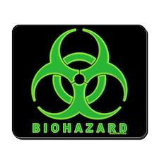 BioHazard Green Glow Mousepad (black)