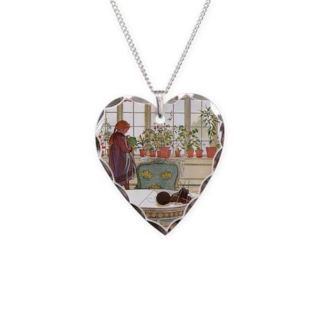 Little Gardener Necklace Heart Charm