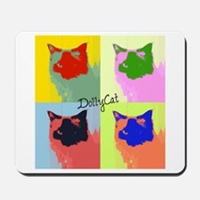 DollyCat Pop Art - Ragdoll Cat - Mousepad