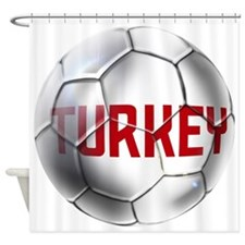 Turkey Soccer Ball Shower Curtain