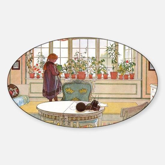 Little Gardener Sticker (Oval)
