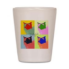 DollyCat Pop Art - Ragdoll Cat - Shot Glass