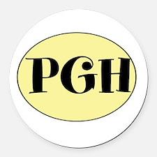 PGH! Pittsburgh, PA! Fun! Round Car Magnet
