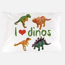 I Love Dinos Pillow Case
