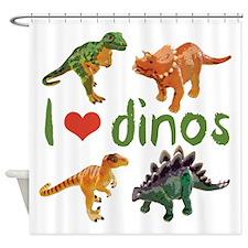 I Love Dinos Shower Curtain