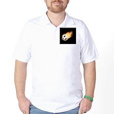Fiery Soccer Ball T-Shirt