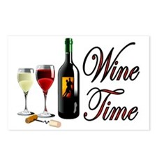 WINE OCLOCK Postcards (Package of 8)