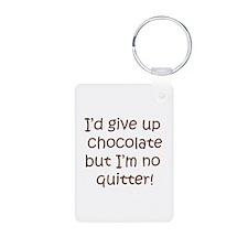No Quitting Chocolate Keychains