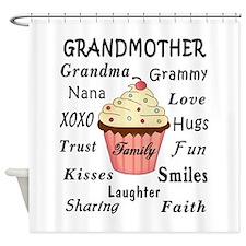 Grandmas Cupcakes For Grandmothers Shower Curtain