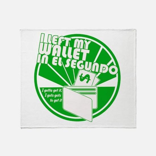 El Segundo Green Throw Blanket