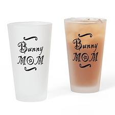 Bunny MOM Drinking Glass
