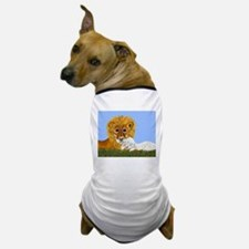 Lion And Lamb Dog T-Shirt