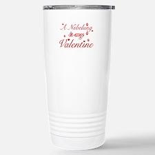 A Nebelung is my valentine Travel Mug