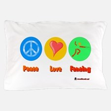 Peace Love Fencing 6000.png Pillow Case